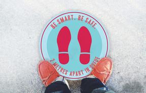 Be Smart.Be Safe_Floor Sticker [Mockup].