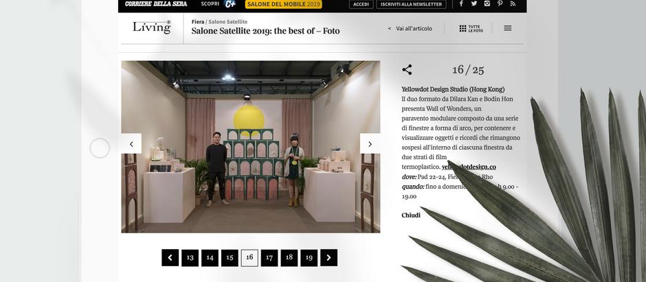 Corriere della Sera -  Best of Salone Satellite