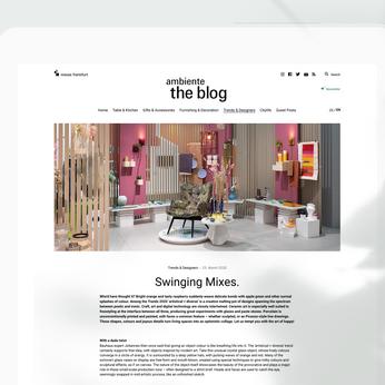 Ambiente Blog: Trends Swinging Mixes
