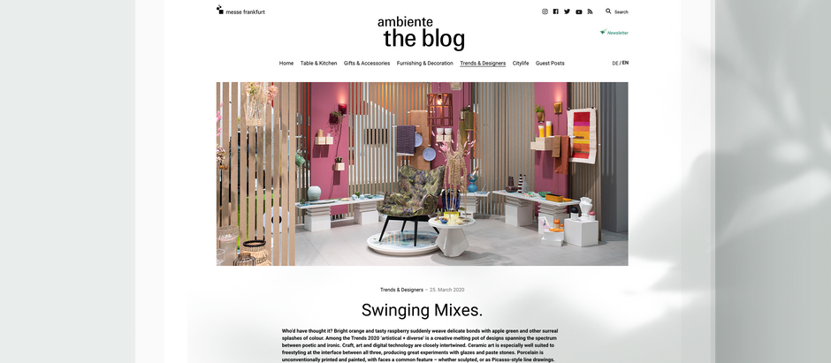 Ambiente Blog: Trends Swinging Mixes