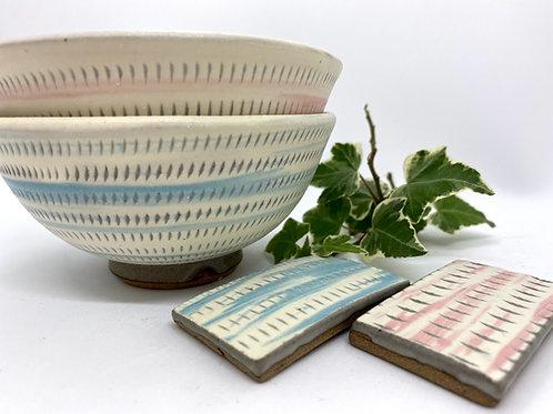 【原彦窯】お茶碗セット 野草茶付き
