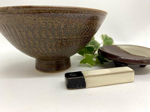 【カネハ窯】お茶碗セット 野草茶付き