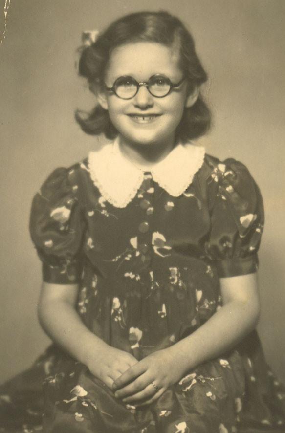 Riane Eisler as a little girl. (Author's collection)