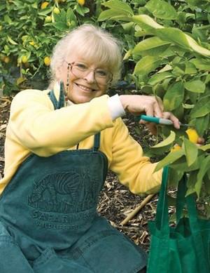 Karen Morss in the Orchard