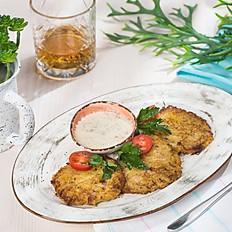 Драники картофельные с грибным соусом