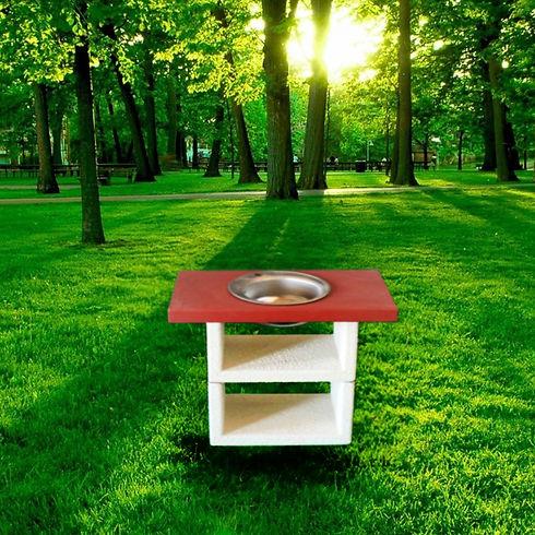 Барбекю Афина прямой столик с мойкой