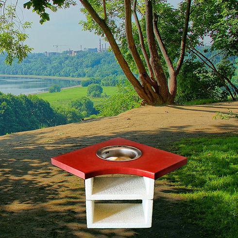 Барбекю Афина угловой столик с мойкой