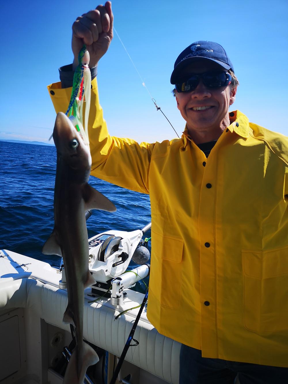 David caught a dogfish