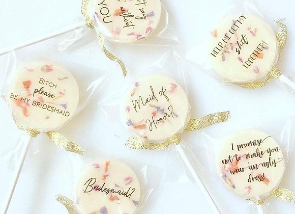 Bridesmaid Pops - Set of 6