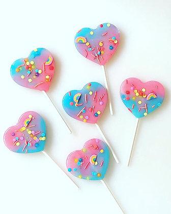 Custom Heart Pops - Set of 6