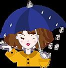 La Barcelonaise - Mascotte - Temps pluvieux