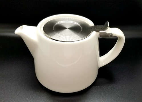 Stump Teapot - 18oz White