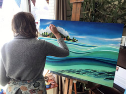 Josée Savaria in her studio