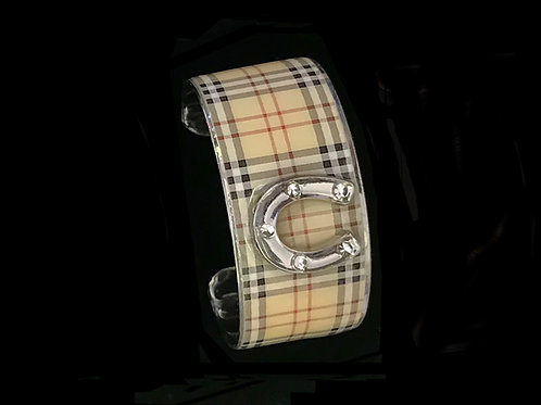 Classic Plaid- Silver Horseshoe- Wide