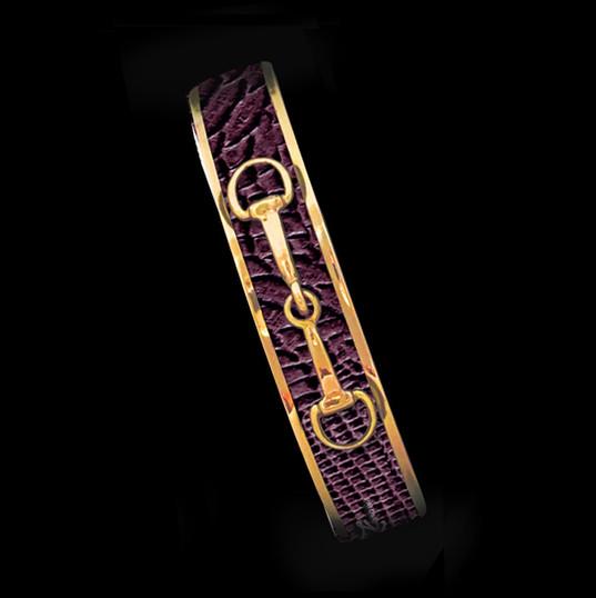 Bordeaux Python- Gold Bit-Skinny