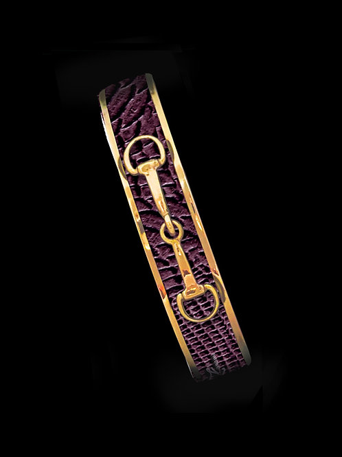 Bordeaux Python-Gold Bit-Skinny