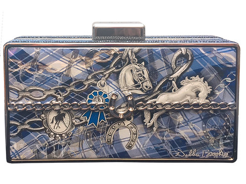 Plaid horse spirit box clutch