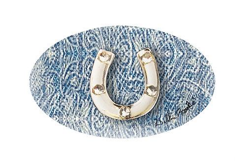 MF- Denim- Silver Horseshoe