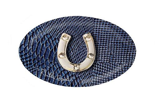 MF-Newport Blue Snake-Silver Horse Shoe