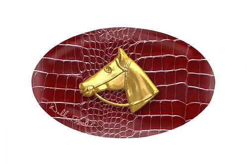 MF- Red Barn Python- Gold Horse Profile