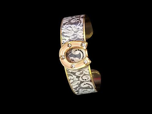 Racey Lace- Gold Horseshoe- Nano