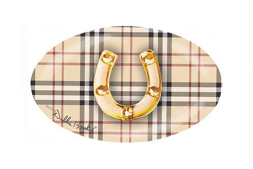 MF- Classic Plaid- Gold Horseshoe