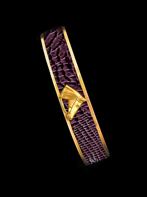 Bordeaux Python- Gold Profile- Skinny