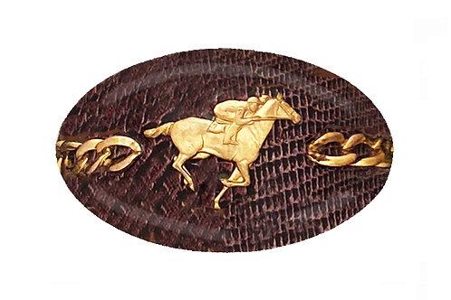 MF- Chestnut Python- Gold Horse Racer Chain