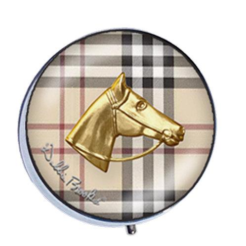 Pill Box-Classic Plaid-Horse Head