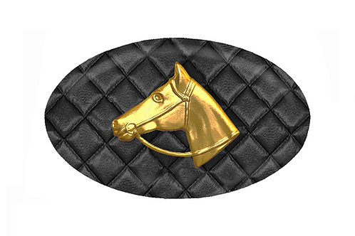 MF- Raven Quilted- Gold Horse Profile