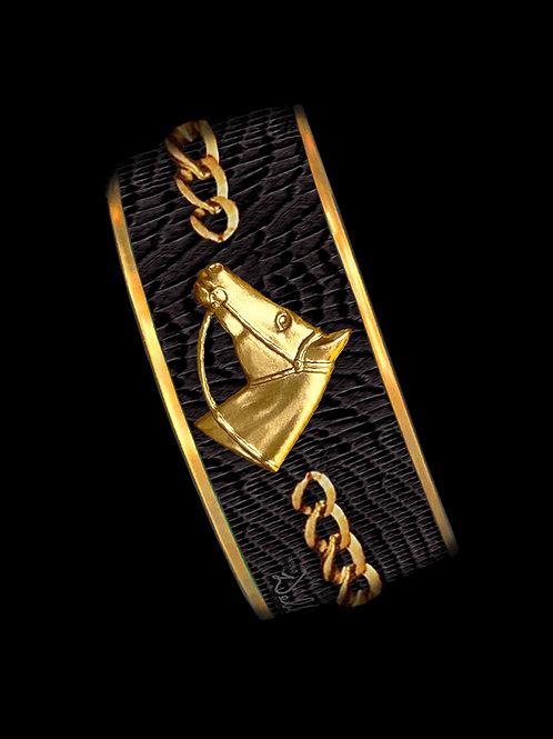 Raven Python- Gold Profile Chain- Wide