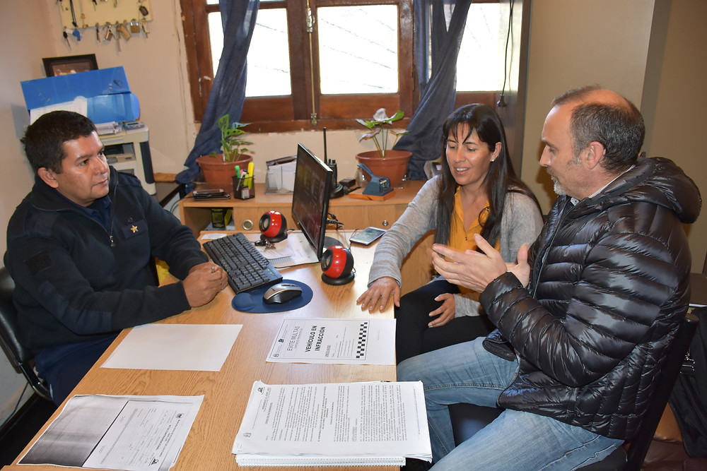 Comisario Moran, Emilce Mirando y Sebastián Ricco