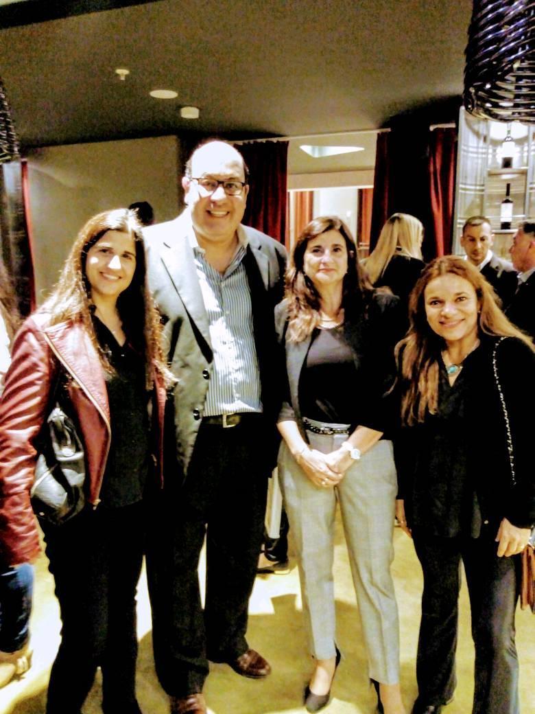 Javier Pedernera con la presidente del Ente de Turismo de Mendoza