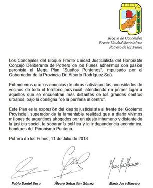 """Potrero adhiere Mega Plan """"Sueños Puntanos"""""""
