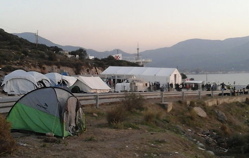 Early refugee camp, OXY