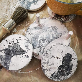 Friday Arts and Craft Club - Home Accessory Crafts Workshop - Shabby Chic Coasters