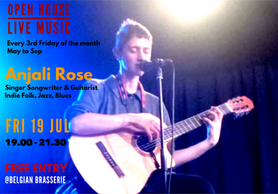 Open House Live Music: Indie Folk and Fusion Jazz Live with Anjali Rose, Singer Songwriter from Spai