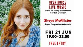 Open House Live Music Evening with Guitarist and Singer Songwriter Sheya McAllister - Fri 21 Jun