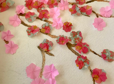 Easter Home Decoration Workshop - Origami Easter Wreath with Cherry Blossom