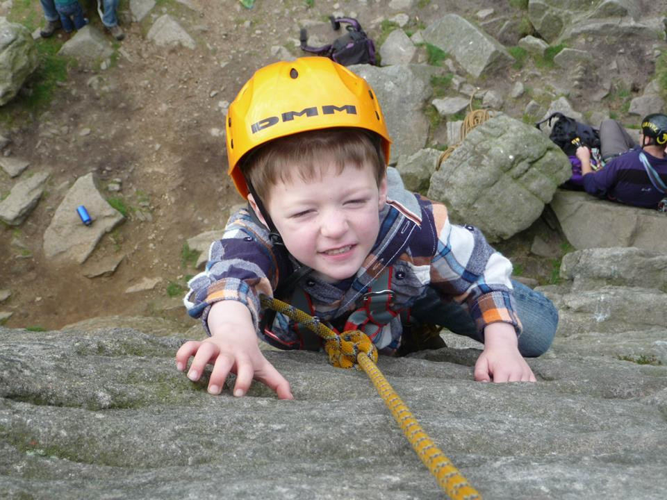 Climbing at Windgather - a great First Crag experience