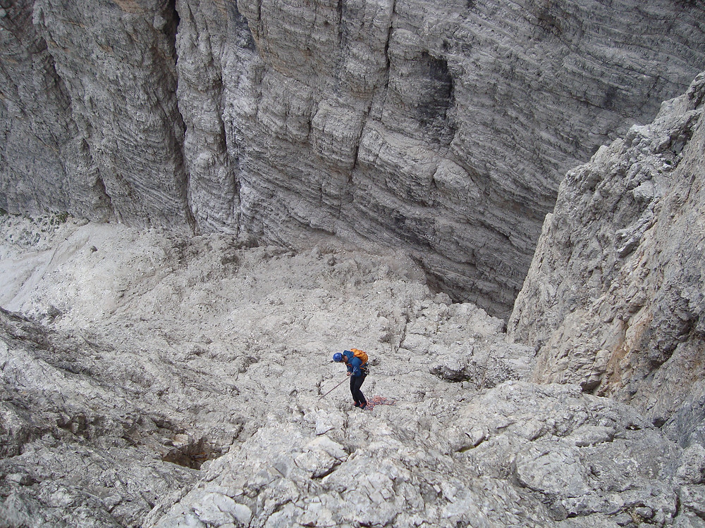 Me abseiling down to the gully