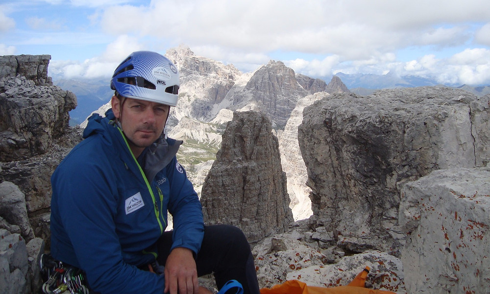 Me sat on the Fore-summit of the Cima Piccola