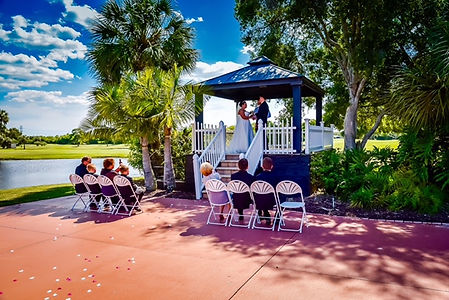 outdoor wedding ceremony largo