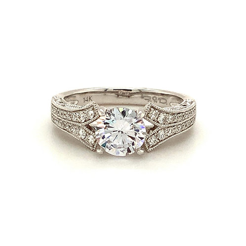 Split Shoulder Diamond Ring