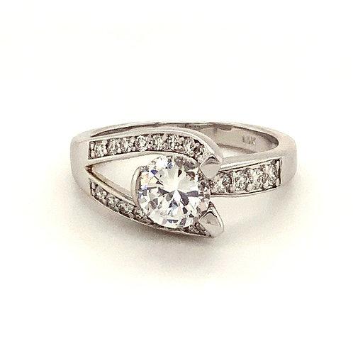 Diamond Bypass Design Ring