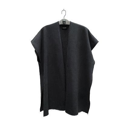 Poncho negro liso