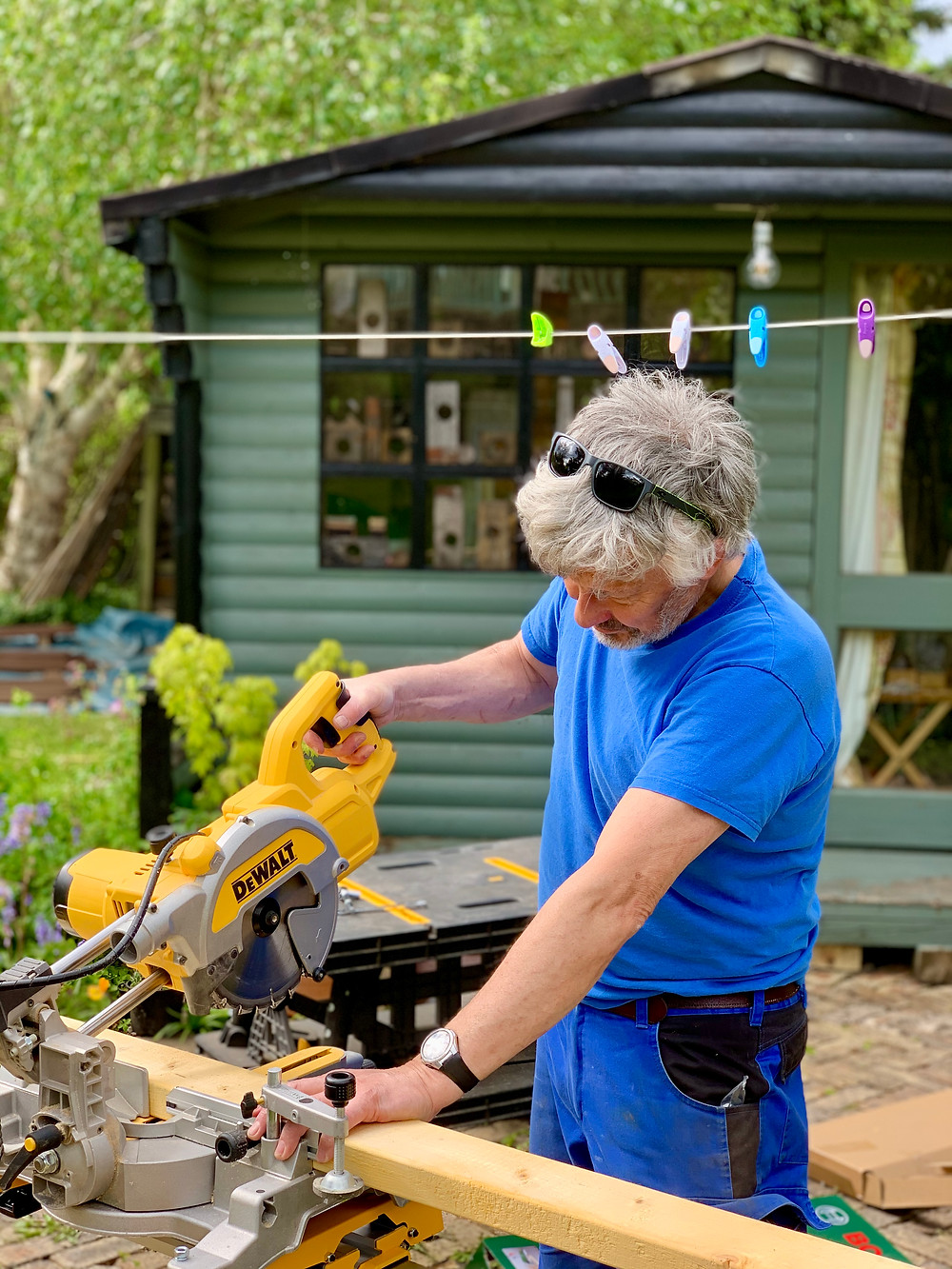 Image of Rob Hain completing a garden project