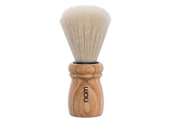 nom Rasierpinsel ALFRED, lange Naturborste - Griffmaterial Pure Ash