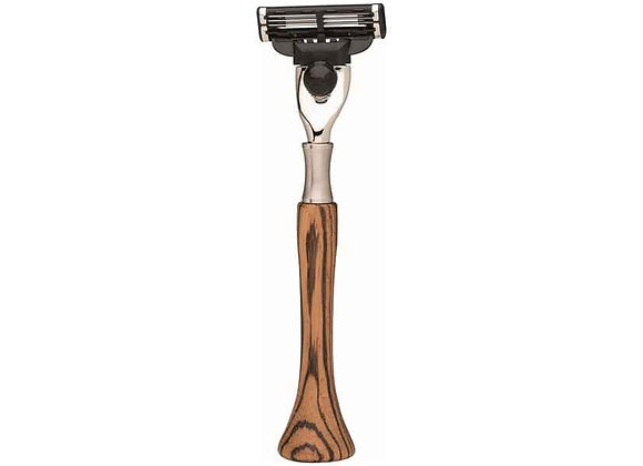 Rasierer - Gillette Mach 3 - Zebrano Holz
