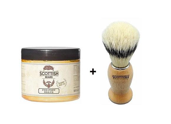 Scottish Pre-Post-Creme 500ml + Pinsel
